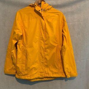 L.L.Bean yellow raincoat size s